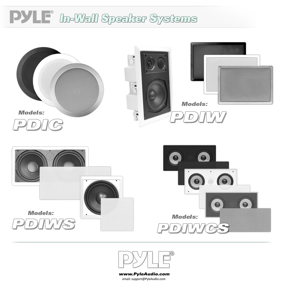 New Pyle Pdiwcs56 In Wall Ceiling Dual 5 25 Quot Center