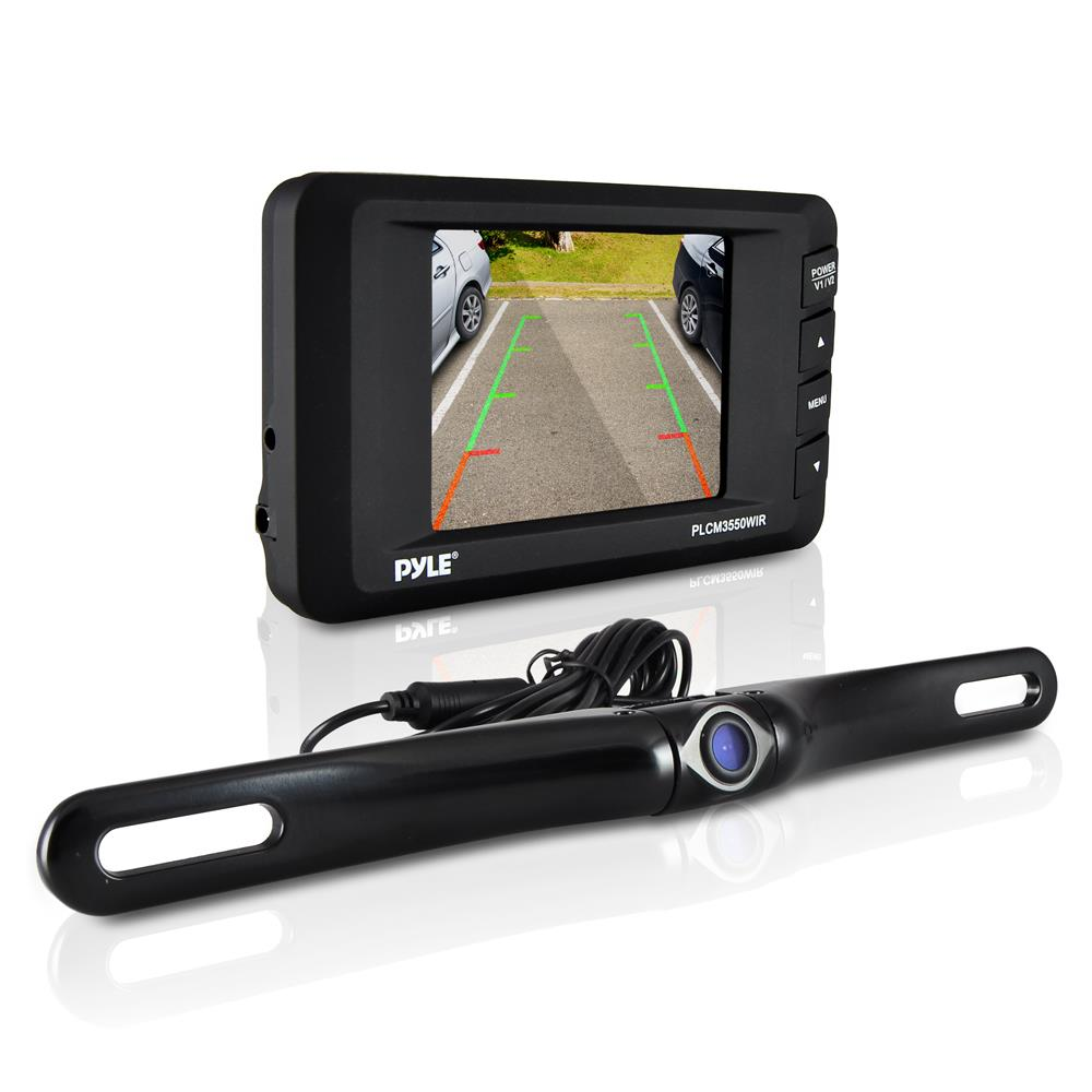 "Pyle Backup Camera >> NEW Pyle PLCM3550WIR Wireless Backup Camera & Monitor System w/ 3.5"" Monitor 