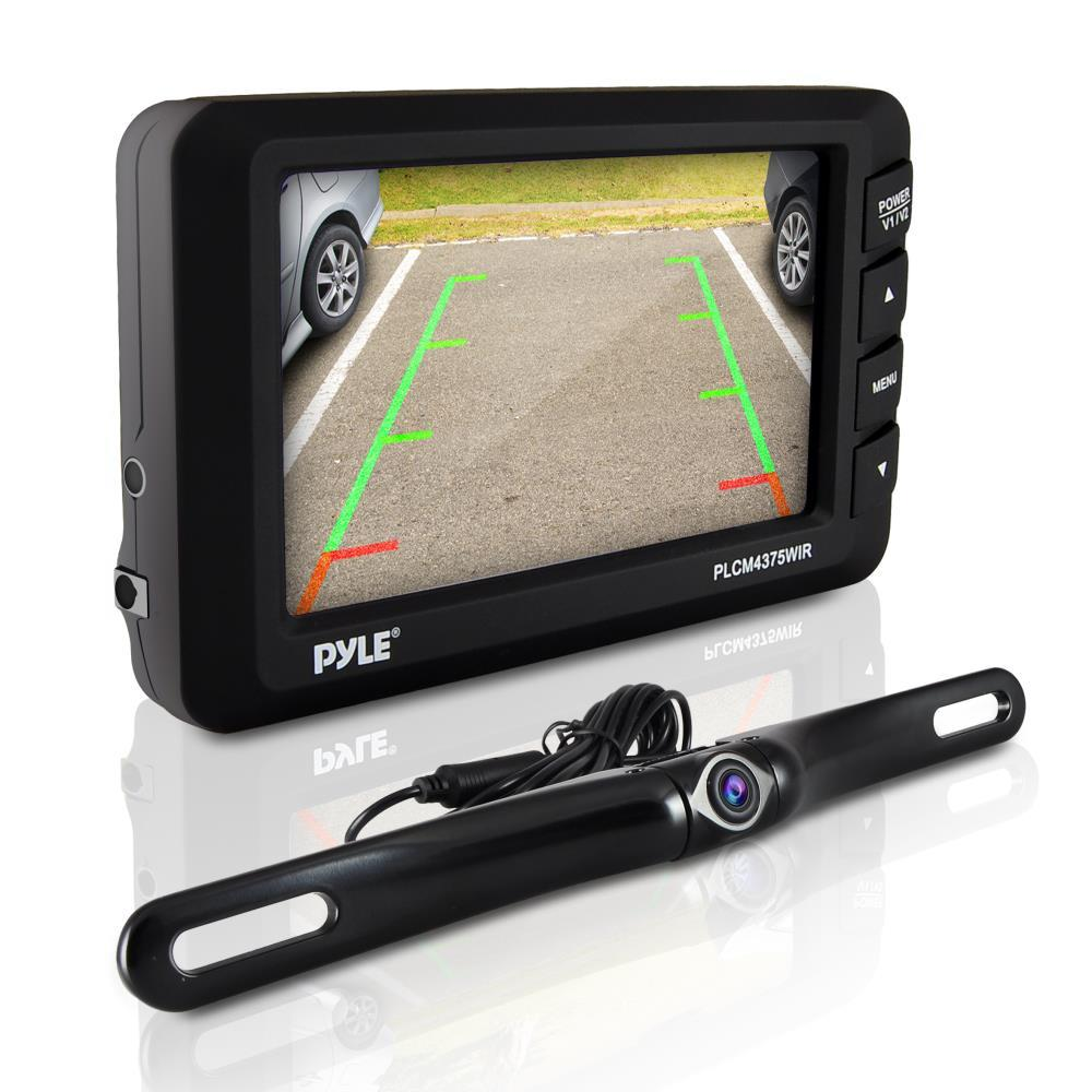 "Pyle Backup Camera >> NEW Pyle PLCM3550WIR Wireless Backup Camera & Monitor System w/ 4.3"" Monitor 