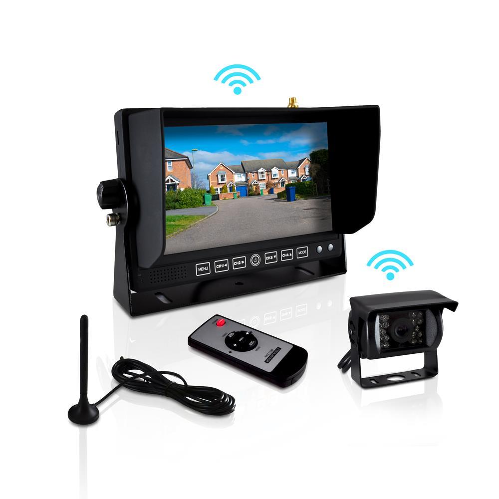 Camera Monitoring System : New pyle plcmtr wir wireless weatherproof backup camera