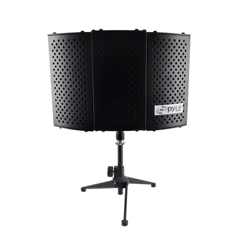 new pyle psmrs08 compact microphone isolation shield sound foam reflector ebay. Black Bedroom Furniture Sets. Home Design Ideas