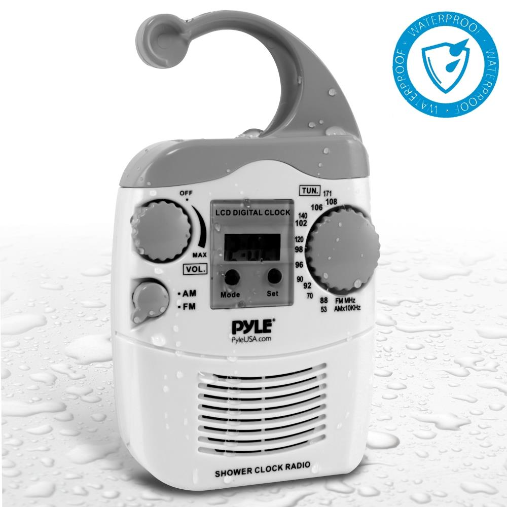 NEW Pyle PSR6 Shower Radio Digital Waterproof Hanging ...