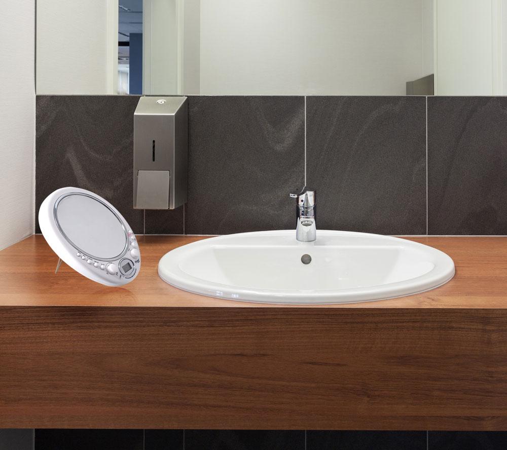 New Pyle Psr9 Fog Free Shaving Mirror W Am Fm Radio