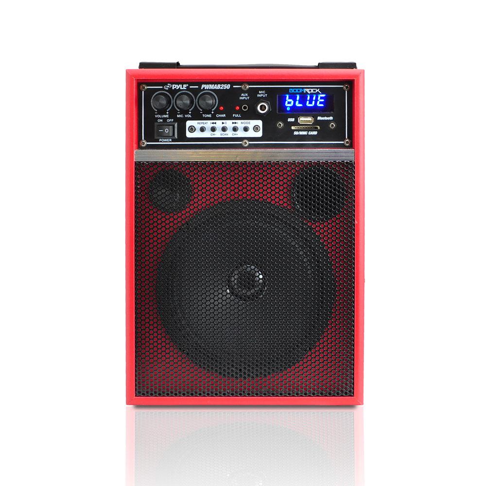 New Pyle Pwmab250rd Boom Rock 300w Portable Bluetooth