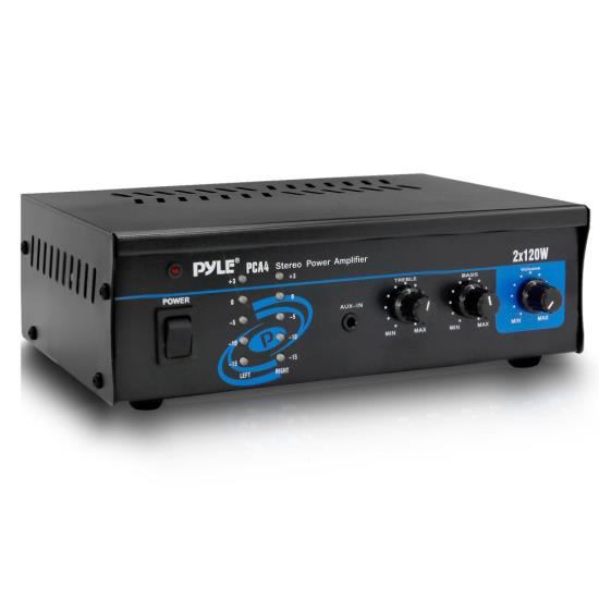 PyleHome - Mini 2x120 Watt Stereo Power Amplifier - Refurbished at Sears.com