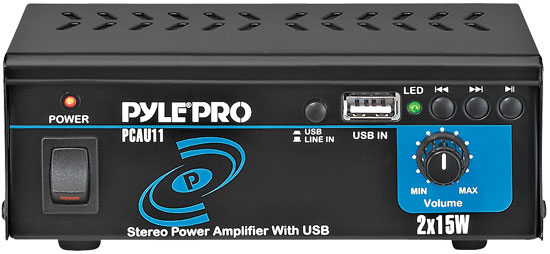 PyleHome - Mini 2x15 Watt Stereo Power Amplifier w/ USB Input - Refurbished at Sears.com