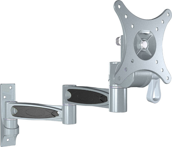 PyleHome - 10-24'' Universal Triple Arm Swivel/Articulating LCD TV Wall Mount