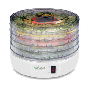 Electric-Countertop-Food-Dehydrator-Food-Preserver-(White)