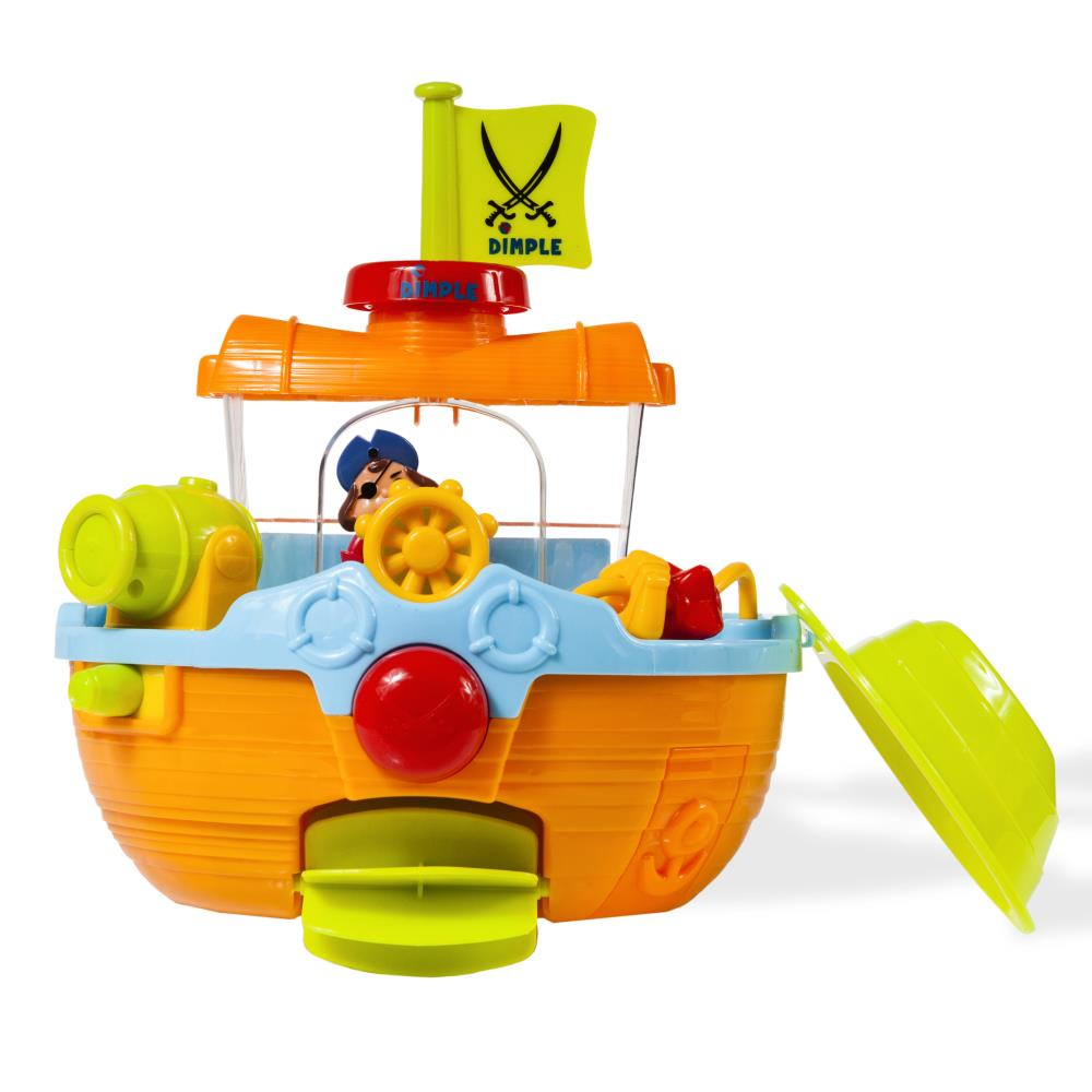 Dimple - DC11554 - Wall Mountable Pirate Ship Bath Tub Toy with ...