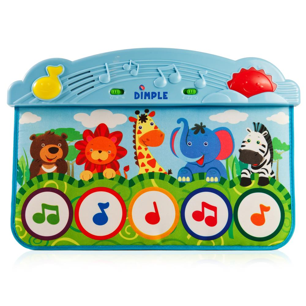 Dimple Dc11956 Zoo Animal Kick And Touch Musical Baby Piano Play