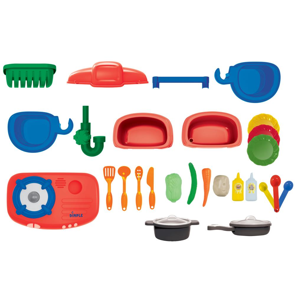 Dimple - DC13997 - On The Go Carrier Toy Kitchen Set (30-Piece Set ...