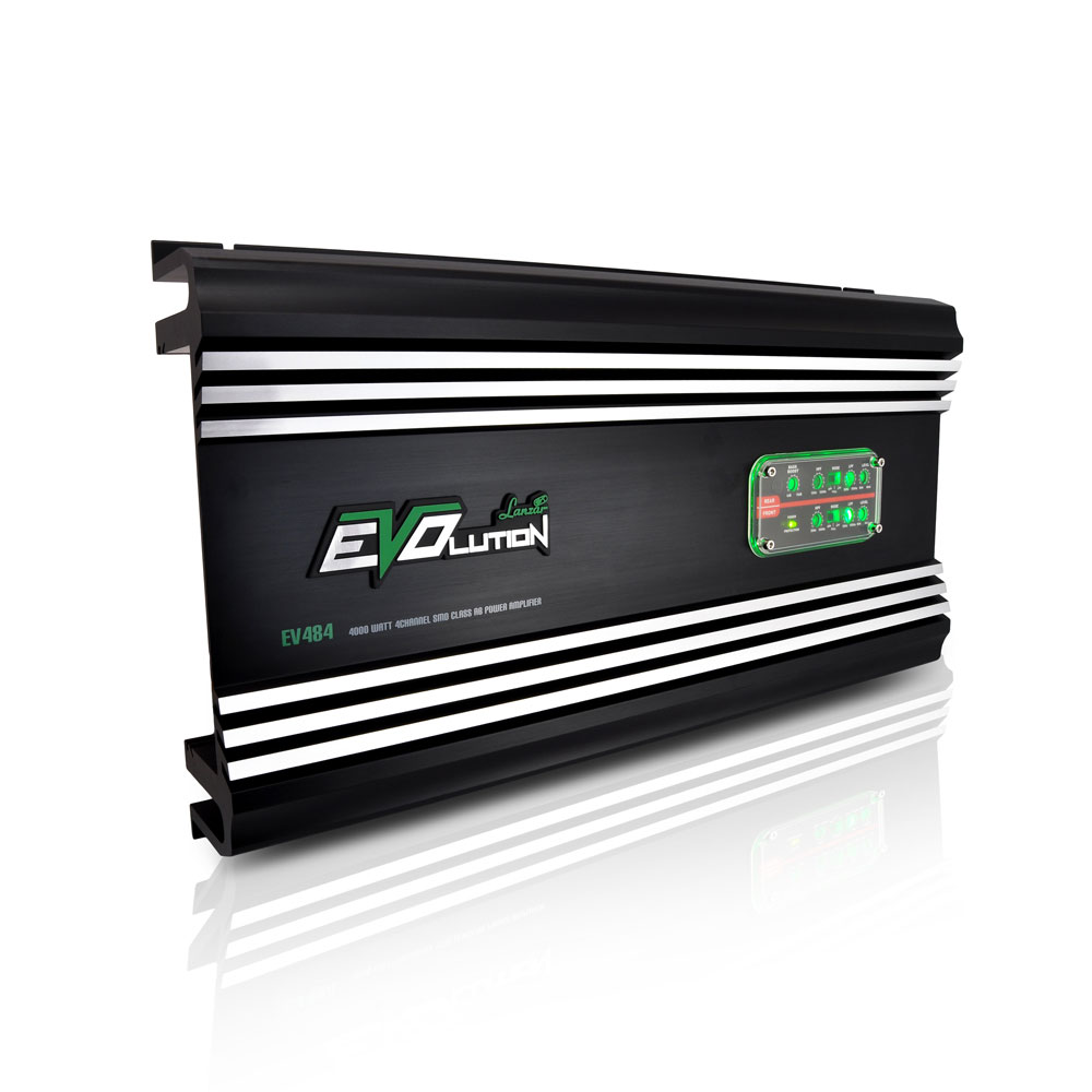 Lanzar Ev484 4000 Watt 4 Channel Smd Class Ab Power Amplifier 12v