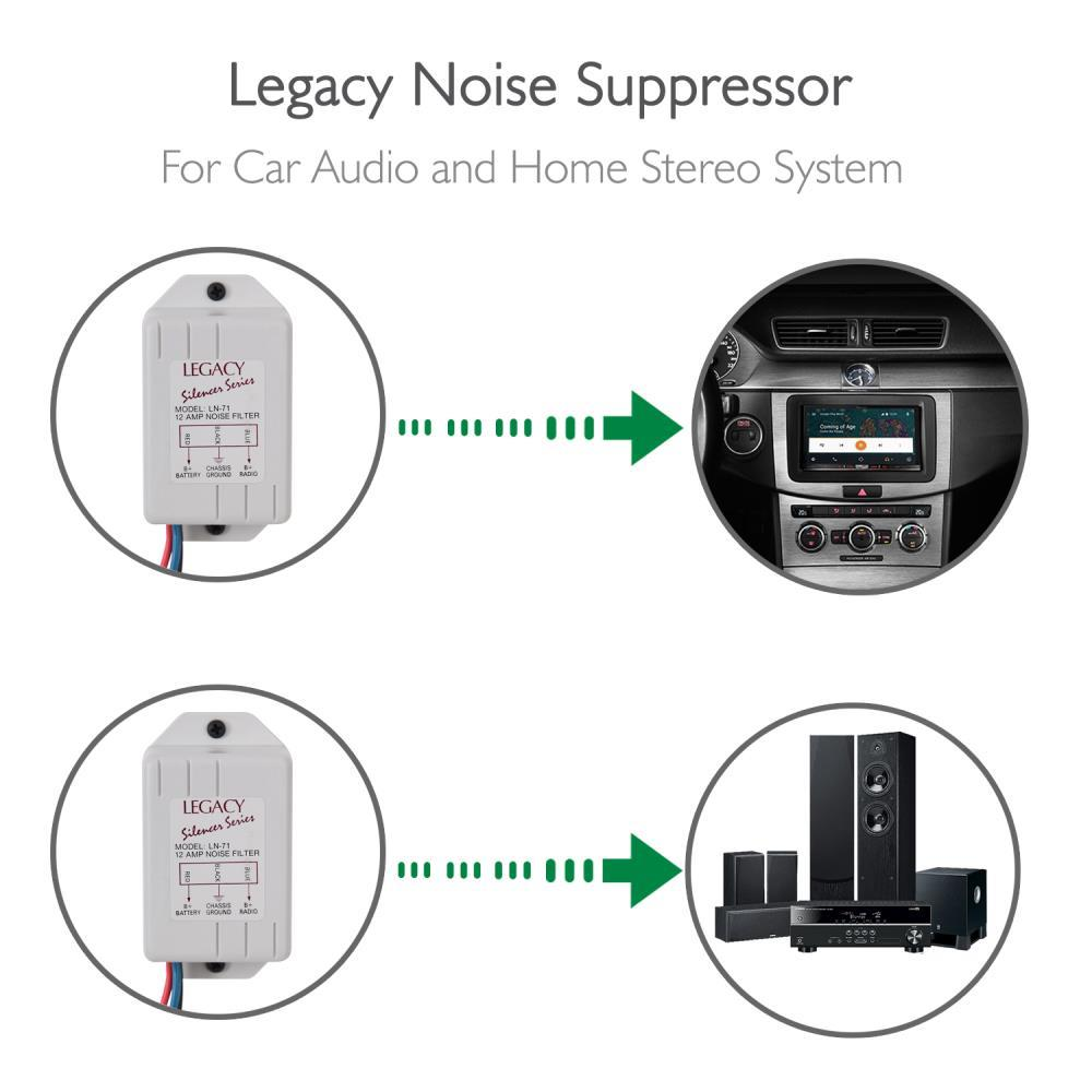 Legacy Ln71 12 Amp Noise Suppressor Filter For Stereo System