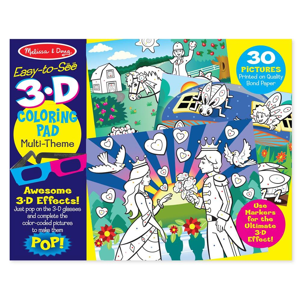 Melissa & Doug - MD9963 - Melissa & Doug 3D Coloring Book - Girl