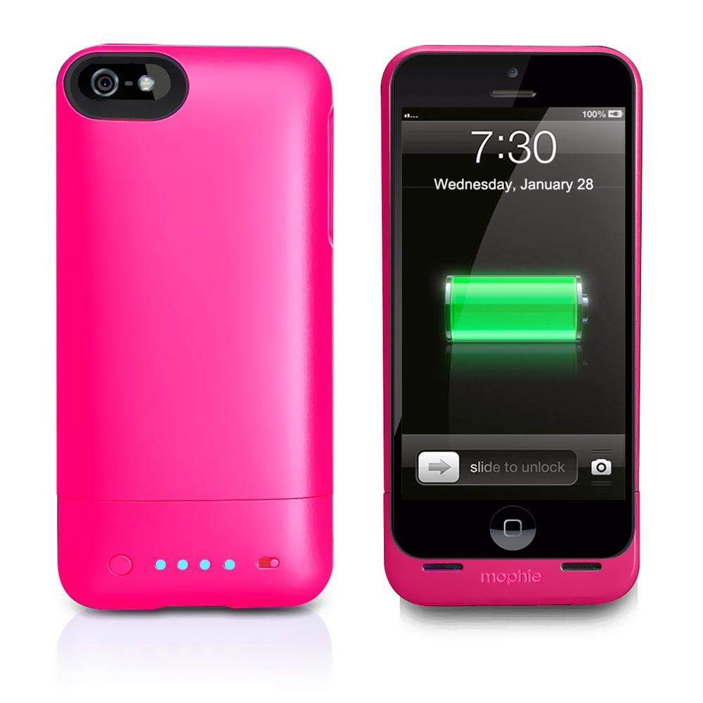 pretty nice 5cf32 9d3a3 Mophie - MOP-2479-IP5PNK - Mophie Juice Pack Helium Battery Case for ...