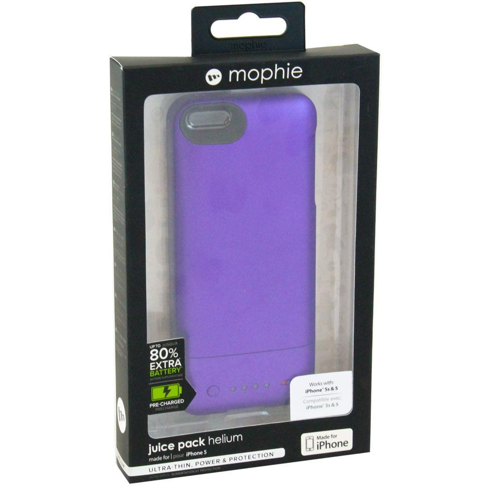 c3f366d35 Mophie Juice Pack Helium Battery Case for iPhone 5/5s - Metallic Purple