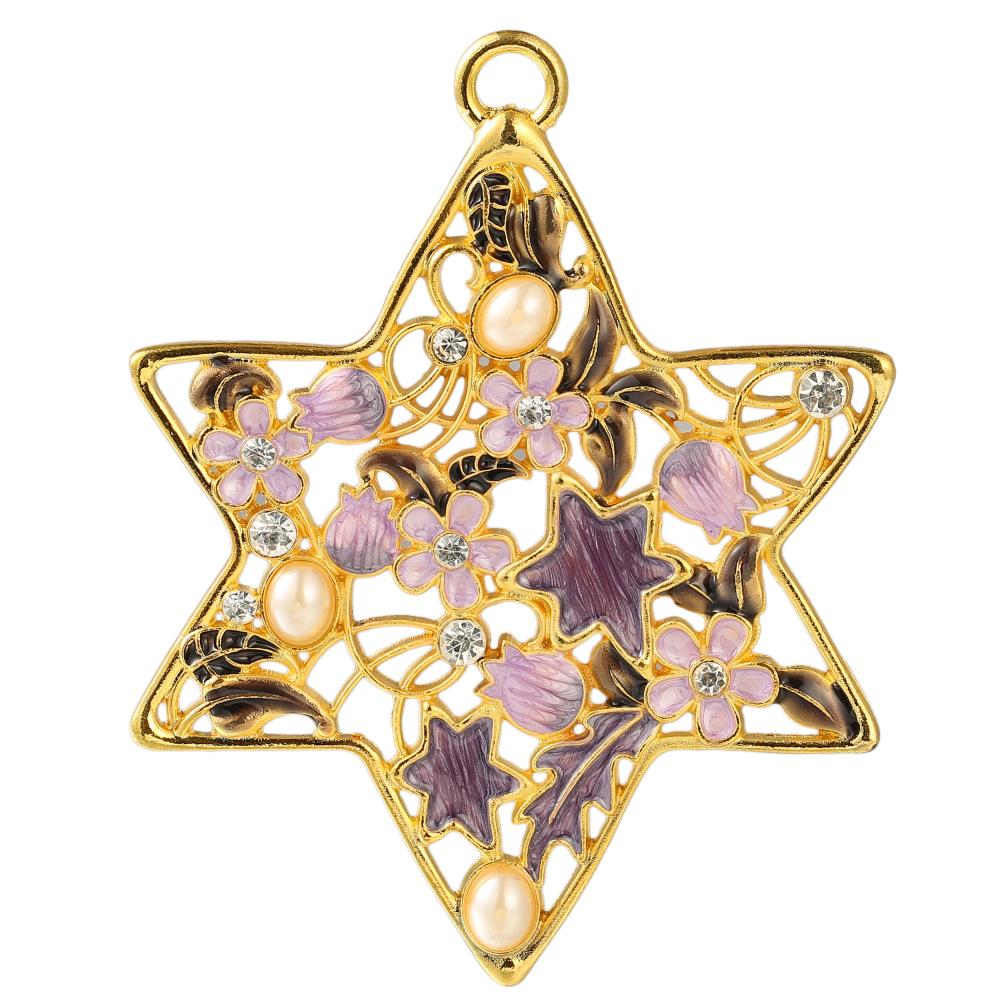 Matashi - MTST13237 - Traditional Star of David Hanging Ornament ...