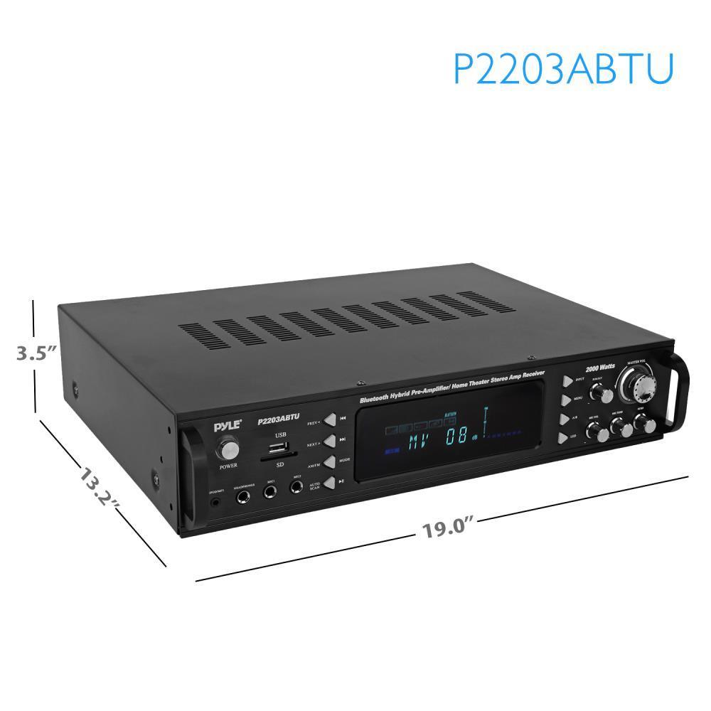Pyle - P2203ABTU - Bluetooth Hybrid Pre-Amplifier, Home