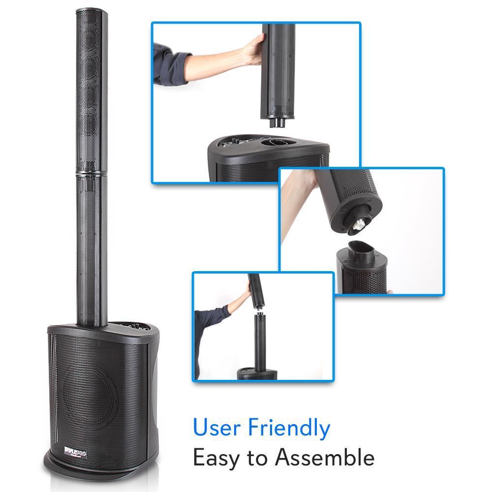 Full Range Stereo Pyle Speaker Tower Amplifier Surround Sound Bluetooth Speaker