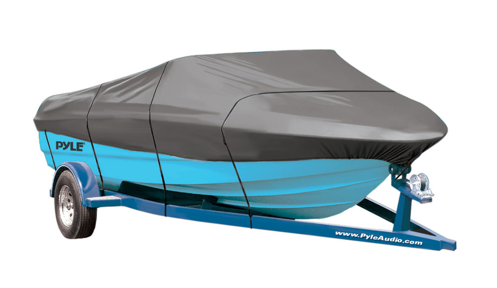 PyleSports PCVHB220 Trailer Guard Boat Cover 14/'-16/'L Width to 75/'/' V-Hull Boats