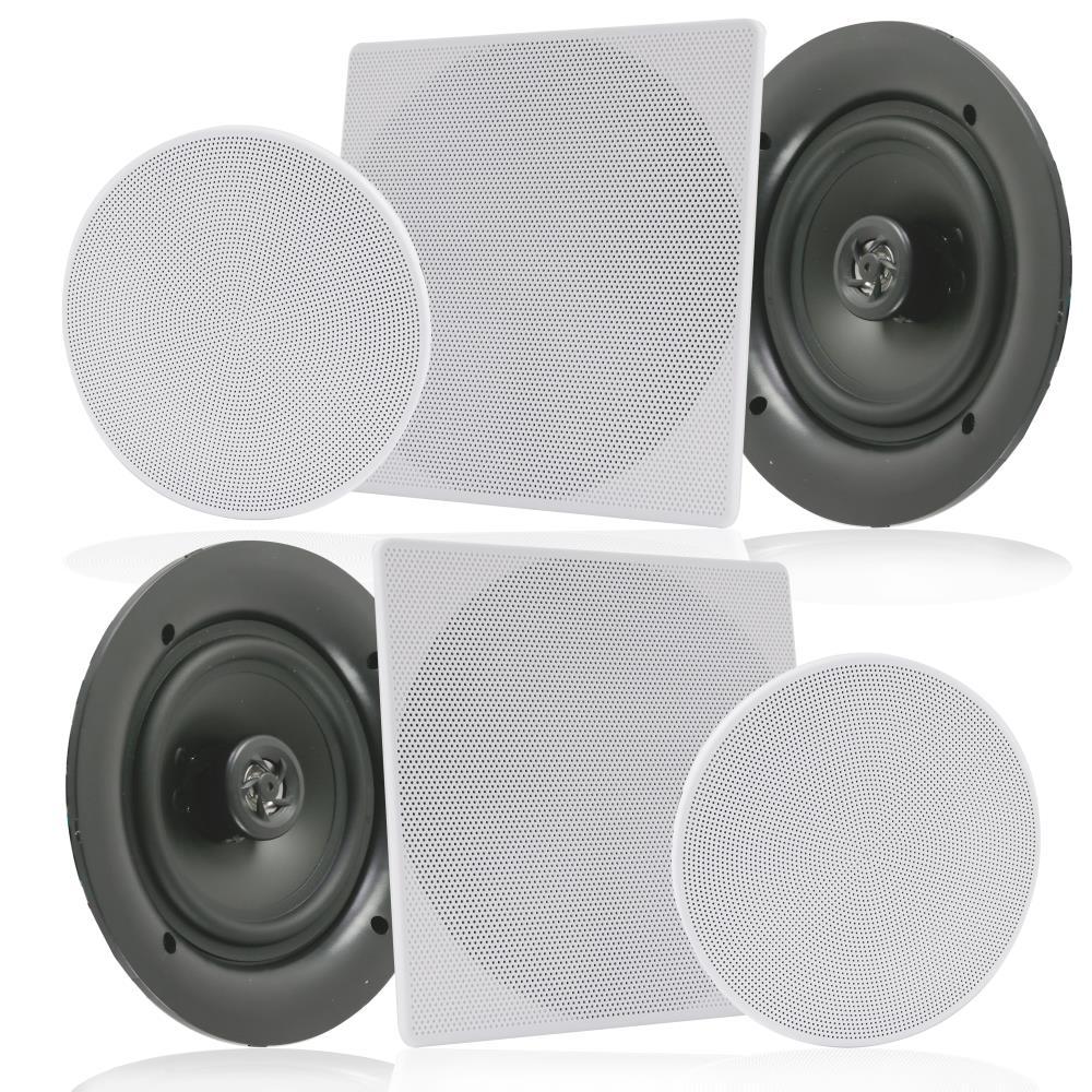 """Pyle PWRC81 8/"""" Weather-Resistant Ceiling Speaker Pair"""