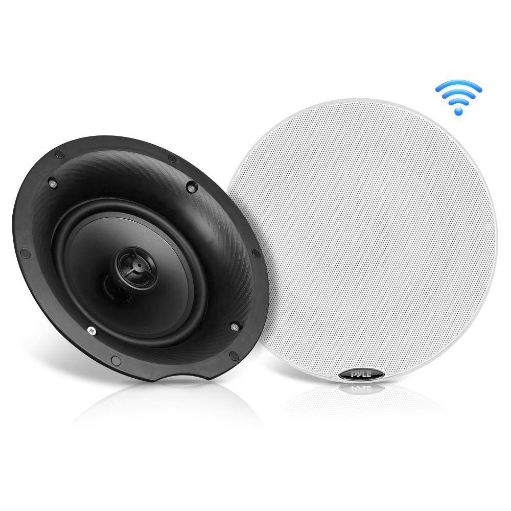 Dual 5 25 Bluetooth Ceiling Wall Speaker Kit 2 Flush Mount Way Speakers 240 Watt