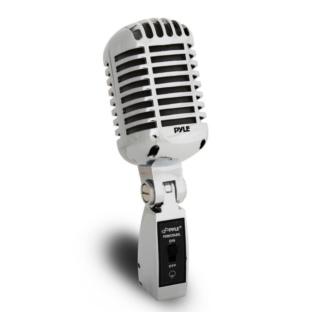 pyle pdmicr68sl classic retro dynamic vocal microphone vintage