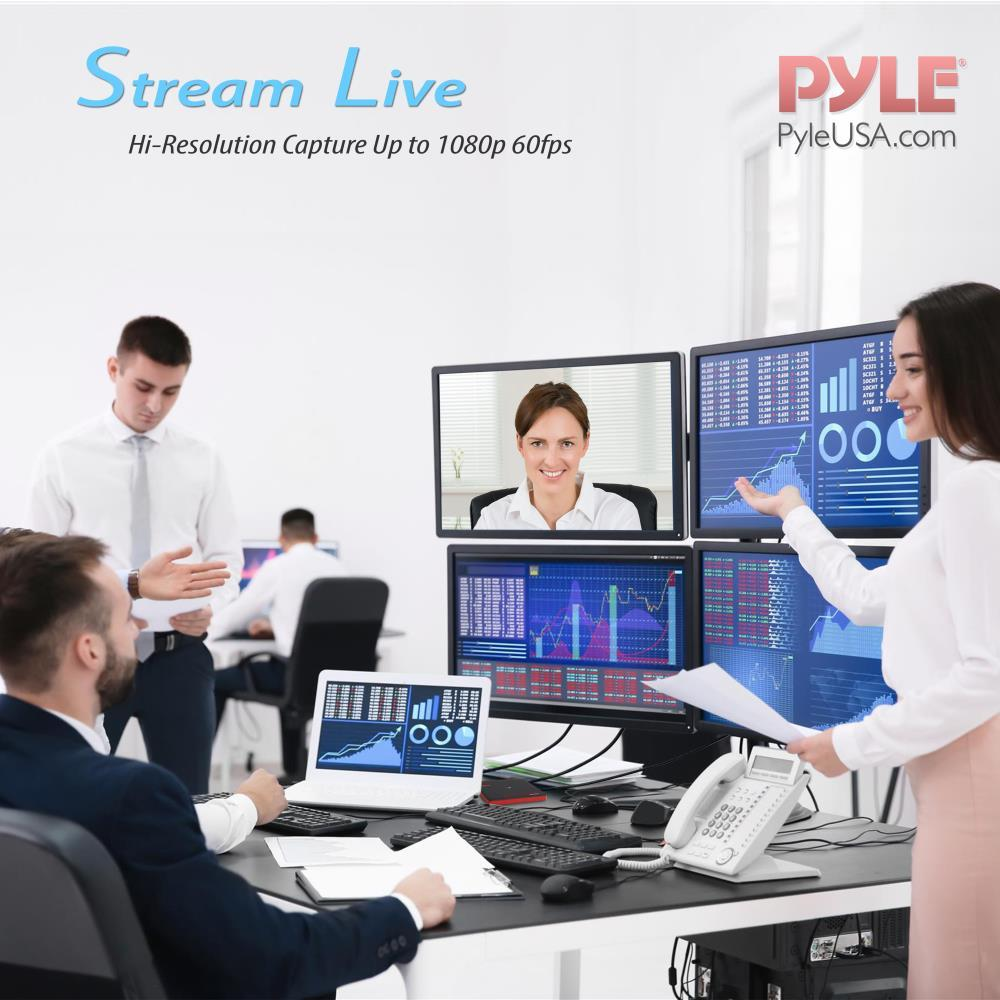 Pyle - PHDRCB48 - HDMI Video Capture Device - Live Streaming