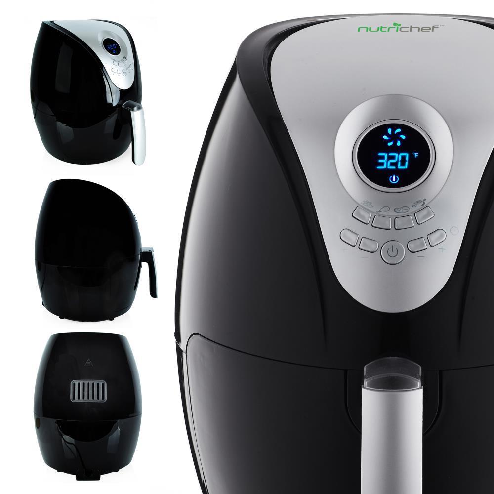 NutriChef PKAIRFR28 Electric Air Fryer Digital Oil-Free Air Frying Cooker