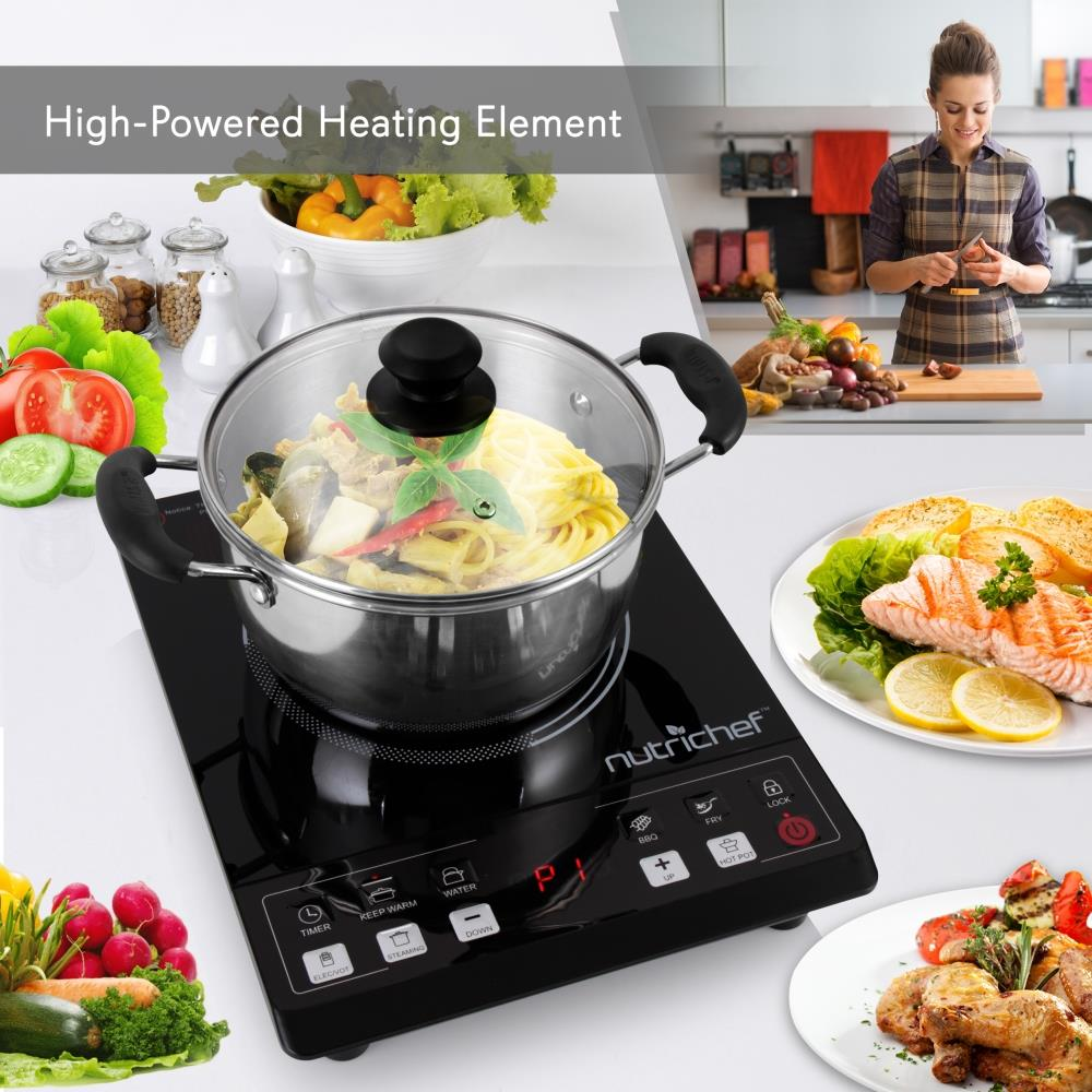 NEW NutriChef PKST14 Ceramic Cooktop Electric Countertop Glass Burner Cooker