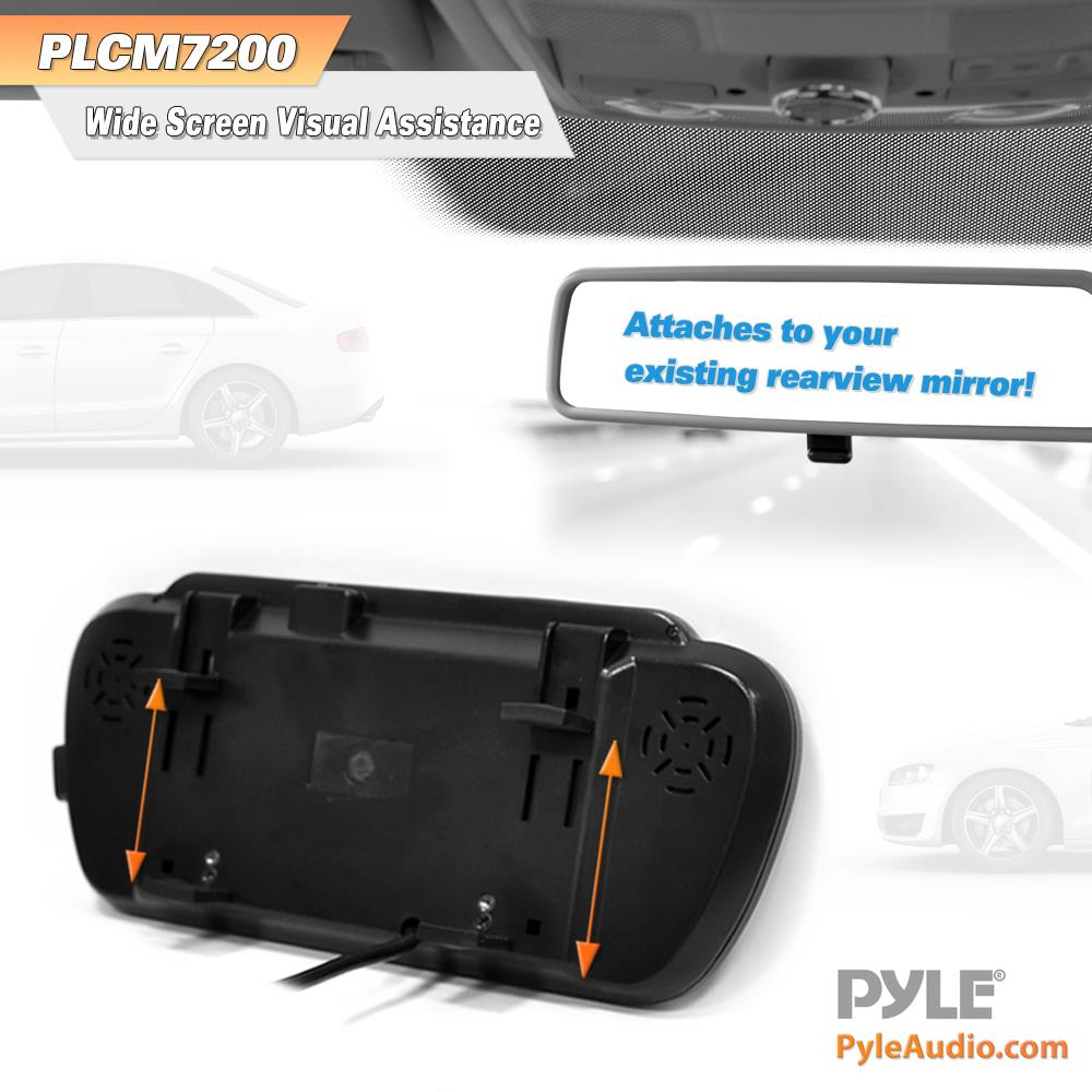 Pyle plcm7200 backup camera rearview monitor parking assist pyle plcm7200 backup camera rearview monitor parking assist system waterproof night vision cam 7 lcd display built into mirror assembly cheapraybanclubmaster Image collections