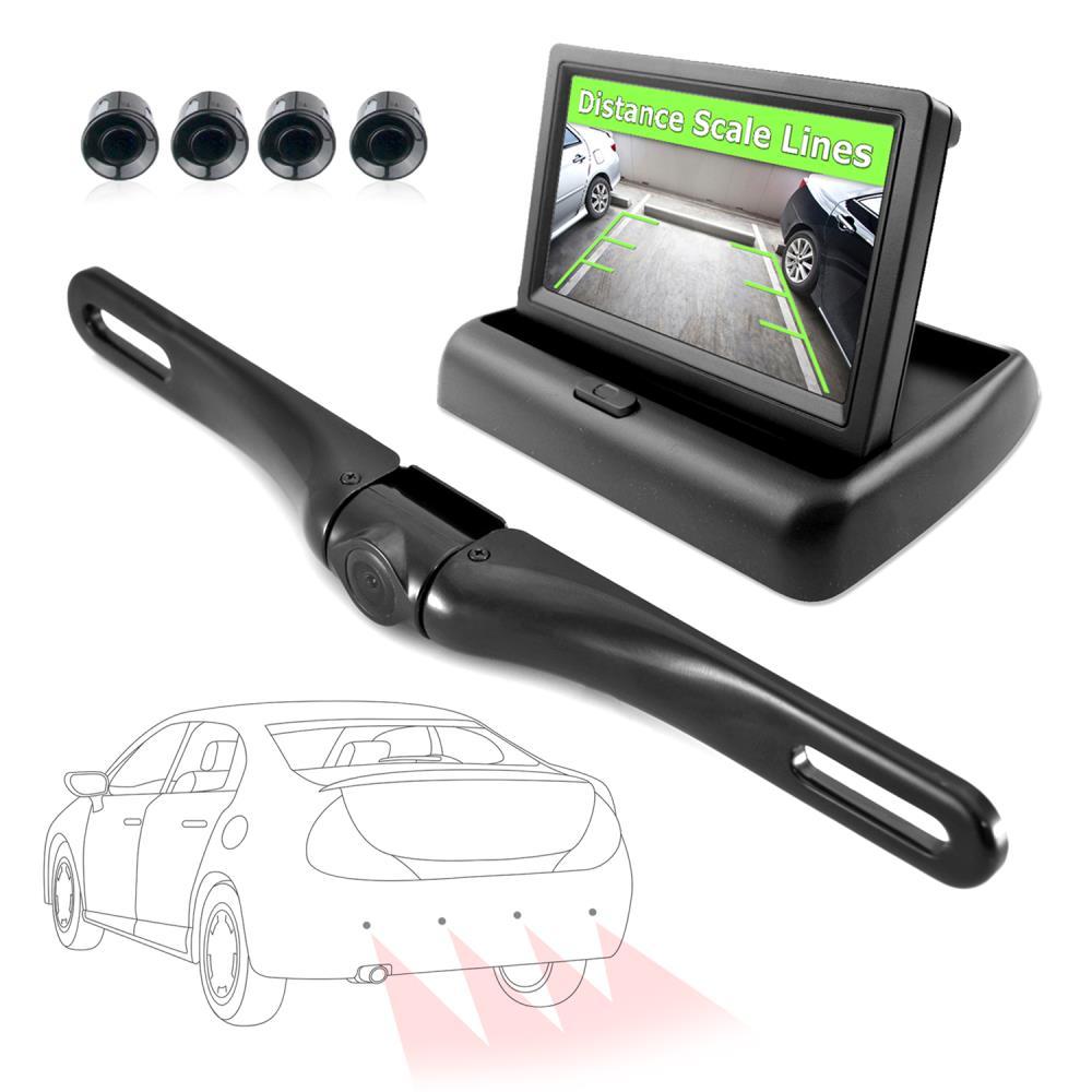 Pyle Plcmps48 Rearview Backup Camera Monitor Driving Assist Alarm Wiring Diagram System Parking Reverse Speaker Depth Sensor Waterproof Night Vision Angle