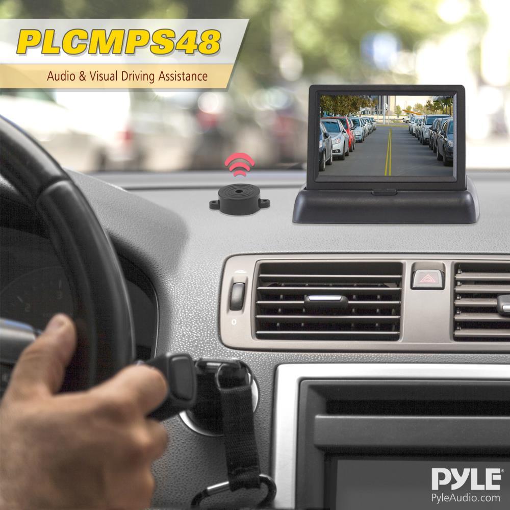 Pyle Plcmps48 Rearview Backup Camera Monitor Driving Assist Plcm18bc Wiring Diagram System Parking Reverse Speaker Alarm Depth Sensor Waterproof Night Vision Angle