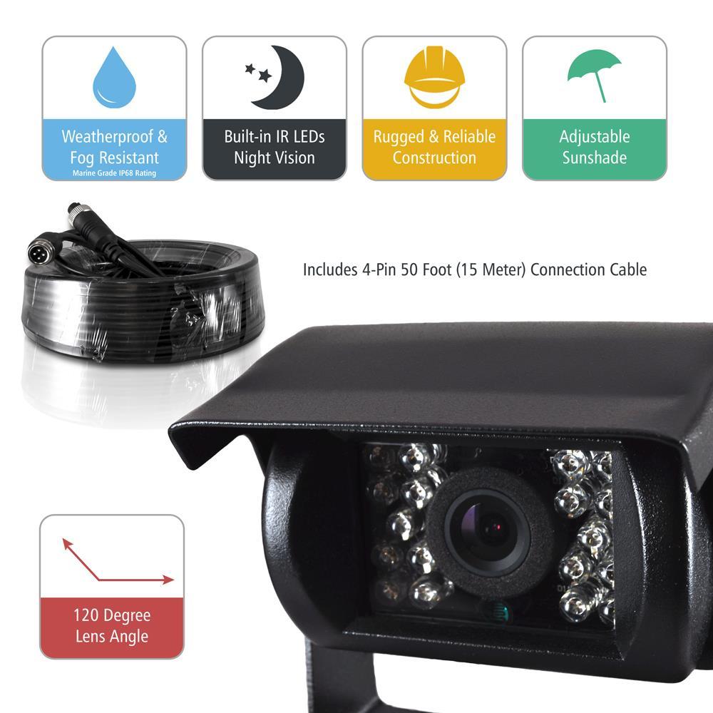 Pyle - PLCMTR72 - Weatherproof Rearview Backup Camera