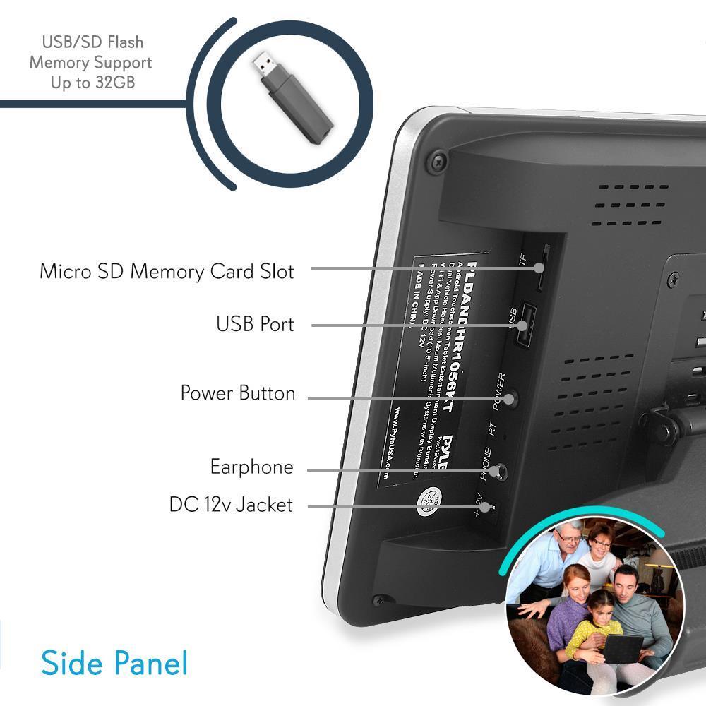 Pyle - PLDANDHR1056KT - Android Touchscreen Tablet
