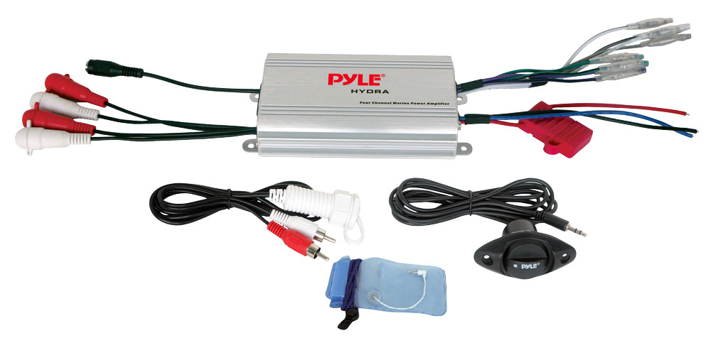 Pyle Plmrmp3a 4 Channel Waterproof Mp3 Ipod Marine Power Amplifier
