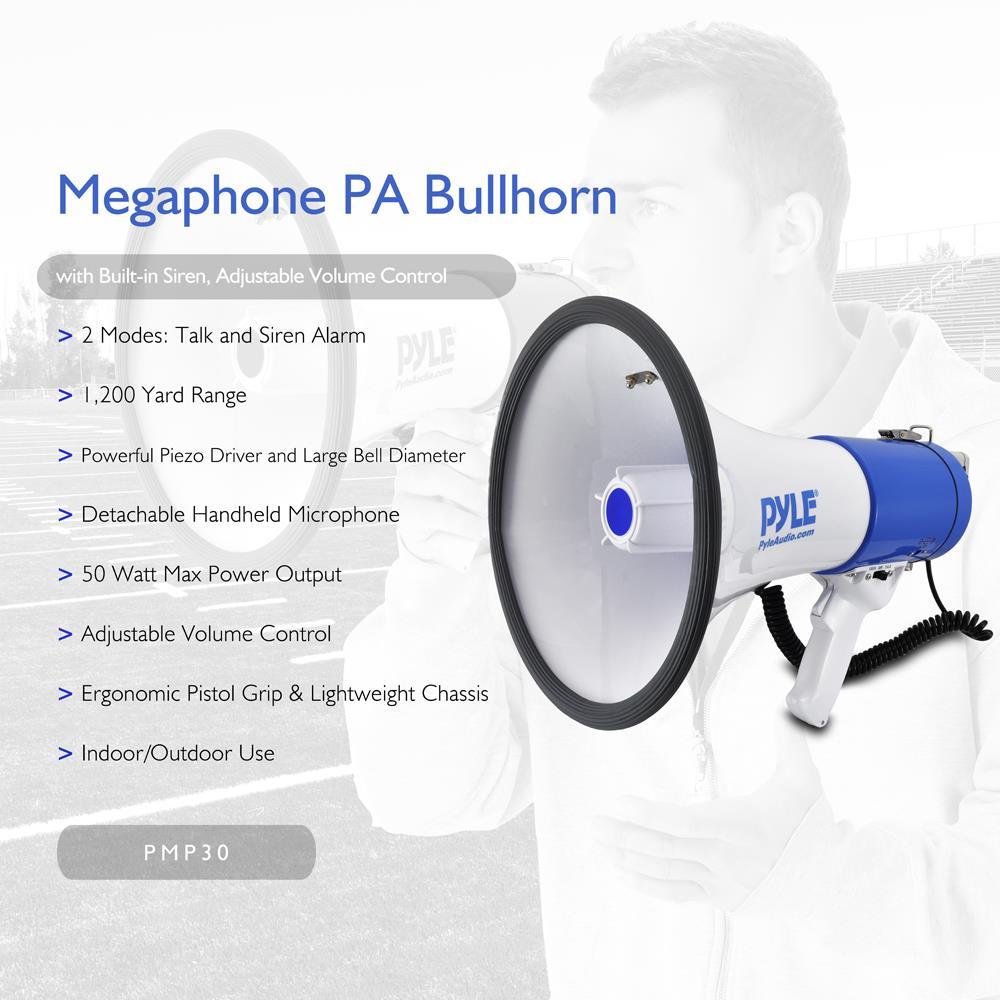 pylepro pmp50 megaphone pa bullhorn with siren alarm mode rh qualitycaraudio com Wiring Diagram Symbols Light Switch Wiring Diagram