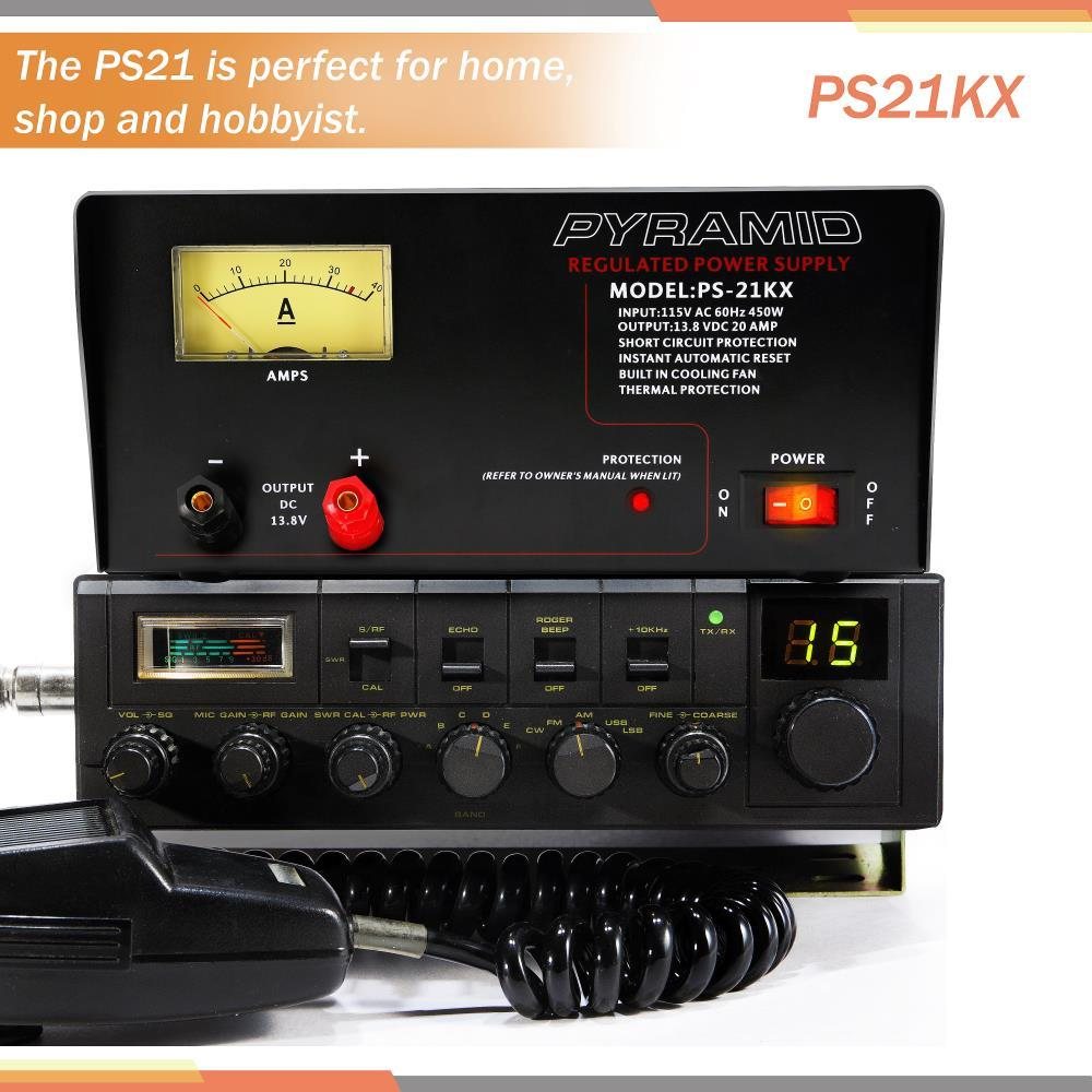 PYRAMID PS21KX 18-Amp Power Supply with Built-in Cooling Fan electronic consumer Electronics