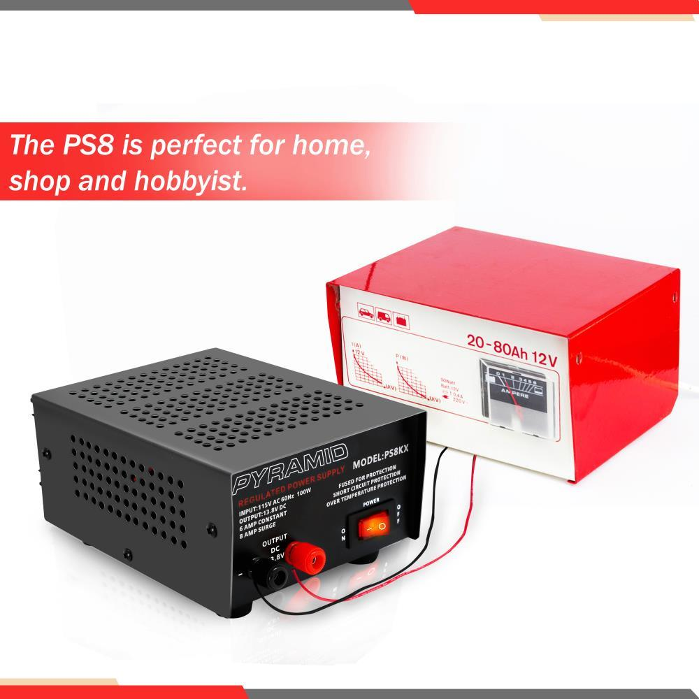 Pyramid Ps8kx 6 Amp Power Supply Short Circuit Protection To Your