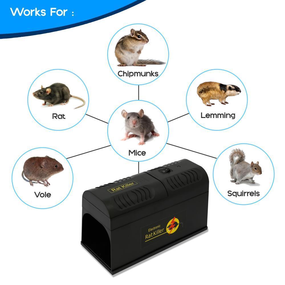 Serenelife Pslerk4 Humane Rat Rodent Trap Electronic Mouse Exterminator Killer Zapper