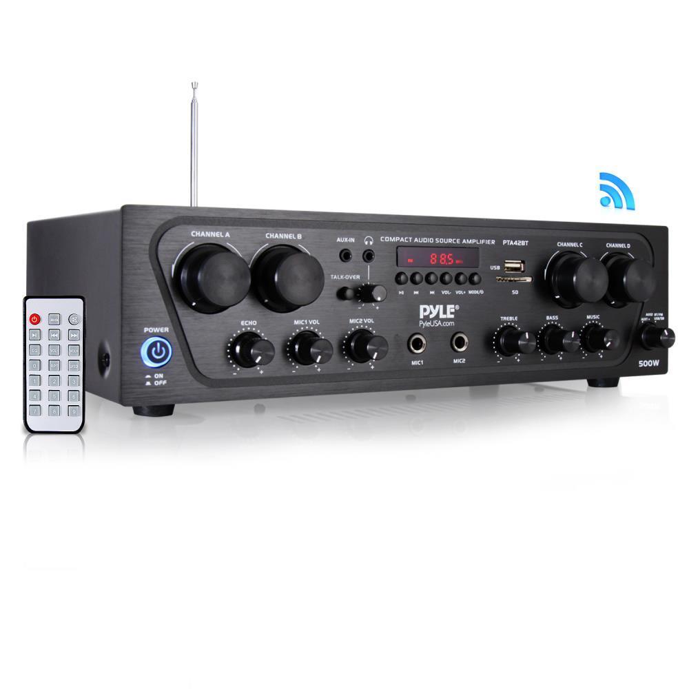 Pyle PMSA20 Compact 50 Watt PA Mini Amplifier Multi-Source 1//4'' Inputs