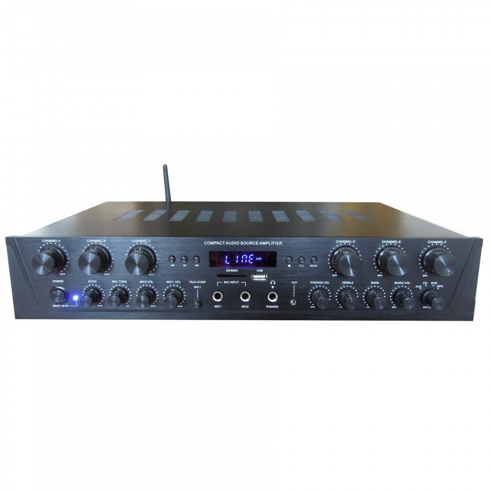 Pyle - PTA66BT - Bluetooth Audio Amplifier, 6-Ch  Audio