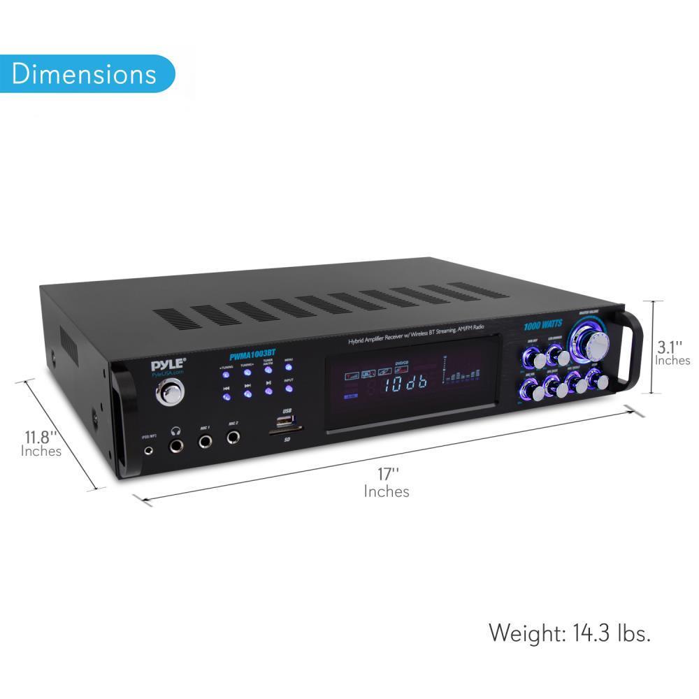 Pyle - PWMA1003BT - Bluetooth Home Amplifier Receiver