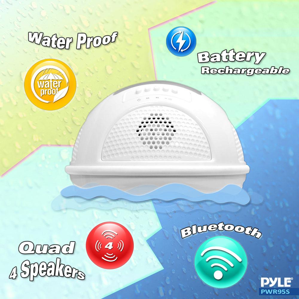PWR95SBL Floating Waterproof Speaker//FM Radio //SD//Solar-Rechargeable Battery