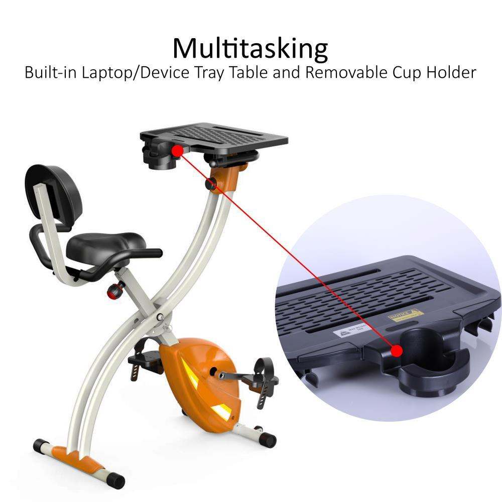 94865b9ff2b SereneLife - SLXB2 Home Office Exercise Bike - Upright Bicycle Pedaling  Fitness Machine with Laptop Tray
