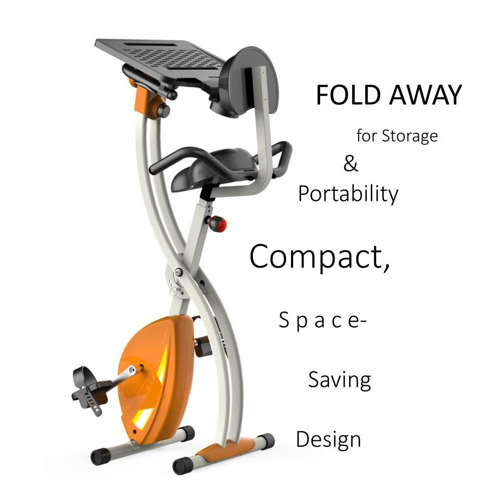 8944f99d319 SereneLife - SLXB2 Home Office Exercise Bike - Upright Bicycle Pedaling  Fitness Machine with Laptop Tray