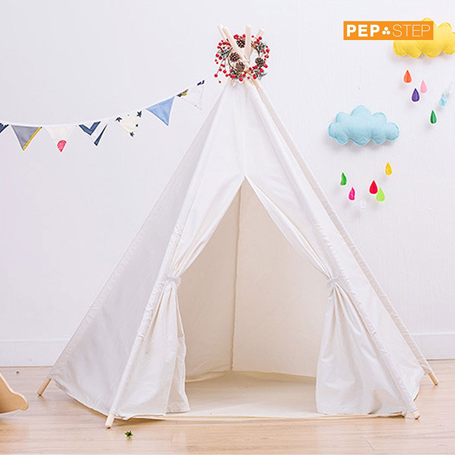 PEP STEP TIPI TENT Cotton Canvas TeePee Tent Fordable 6