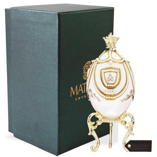 Matashi - MTMB3057SL - Faberge Egg Music Box Swan Lake with Hidden