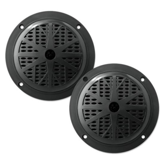 Dual-525-Waterproof-Marine-Speakers,-2-Way-Full-Range-Stereo-Sound,-100-Watt,-Black