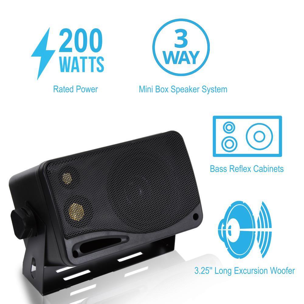 Pyramid 2022sx 200 Watts 3 Way Mini Box Speaker System